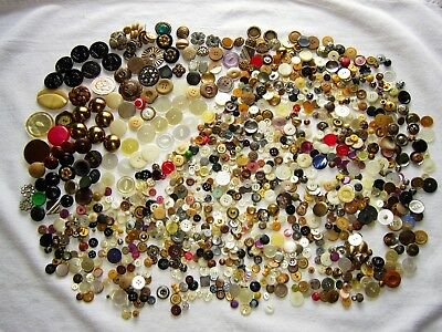 Lot Of Vtg Antique Sewing Buttons Victorian To Art Deco Mid Century Almost 2 Lbs
