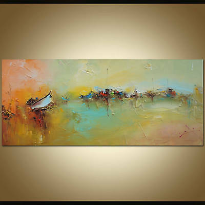 Large Modern Abstract Home Decor Art Canvas Pure Hand-Painted Oil Painting Wall