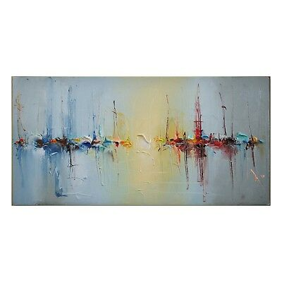 Large Modern Hand-Painted Oil Painting Wall Abstract Home Decor Art On Canvas