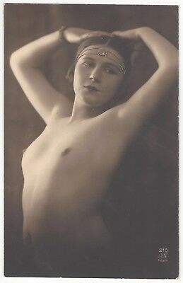 1920 French NUDE Photograph - Beautiful Deco Flapper