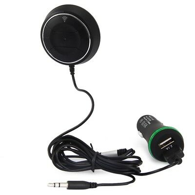 Wireless Car Bluetooth AUX Kit 3.5mm Audio Music Receiver Adapter USB Charger