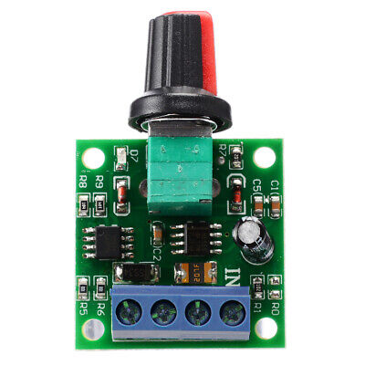 DC Motor 1.8V 3V 5V 6V 12V PWM Speed Controller 2A Potentiometer Knob Switch DIY