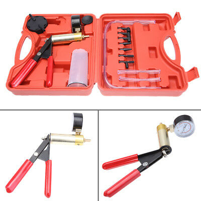 Hand Held ABS Vacuum Pressure Pump Tester Set Brake Fluid Bleeder Bleeding Kit U