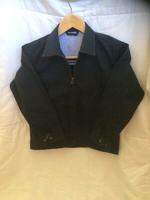 Marks And Spencer Boys Blue Jacket Age 7-8 Great Used Condition