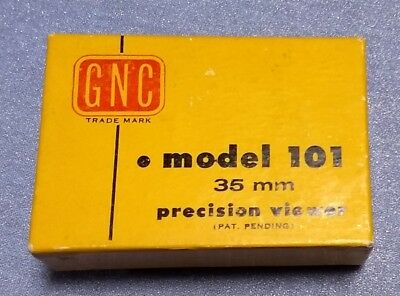 VINTAGE GNC MODEL 101 PRECISION SLIDE VIEWER NM with BOX Works VG