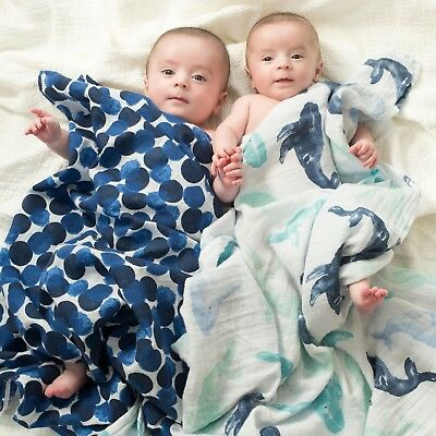 aden and anais breathable muslin 4-pack swaddles: seafaring