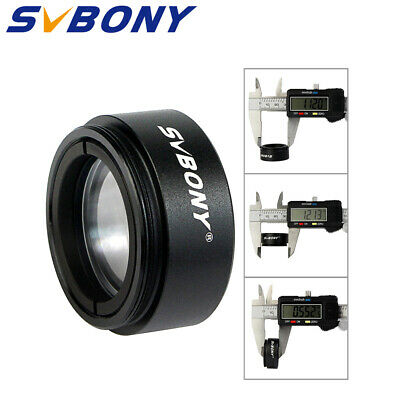 "SVBONY 1.25"" Telescope 0.5 Focal Reducer Threads M28x0.6 for 31.75mm Eyepiece"