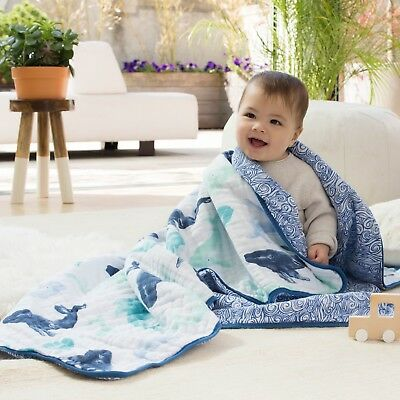 aden and anais baby muslin 100% cotton dream blanket: seafaring