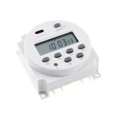 New LCD CN101A 12V Digital Weekly Programmable Power Timer Time Relay Switch TU