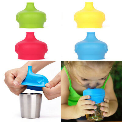 The New Baby Sippy Cup Lids And Stainless Steel Cup-Elephant Durable Silicone