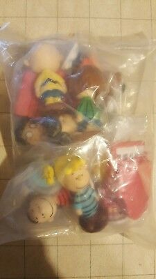 Cartoon Peanuts Charlie Brown Snoopy 12 PCS Action Figure PVC Cake Topper Toy