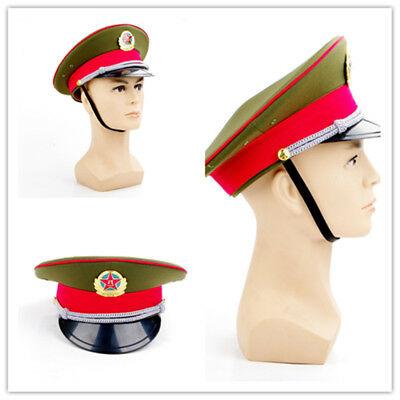 China Military officer Captain's Visor Hat Chinese Army Caps Military cap 59cm