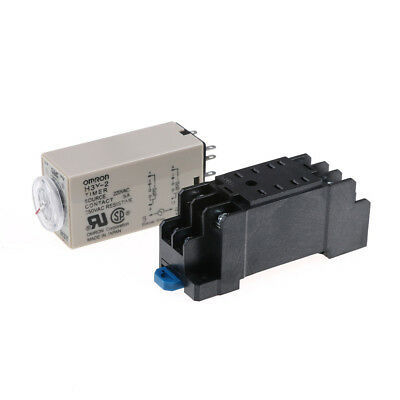 H3Y-2 AC220V Delay Timer Time Relay 0 -10 Seconds with Base DE