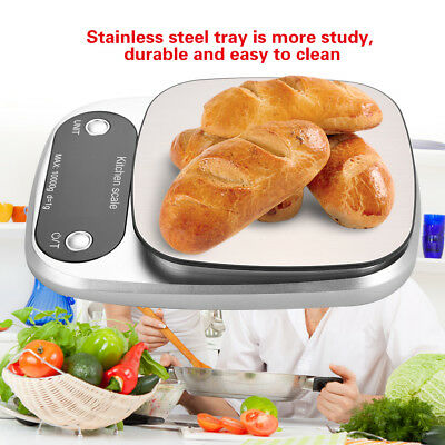Kitchen Scale Digital Postal LCD Electronic Weight Tray Scales Food Shop 10kg/1g