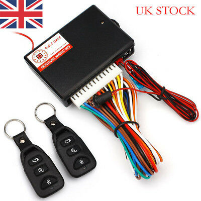 Universal Car 2 Remote Central Door Locking Kit Keyless Vehicle Entry System DT