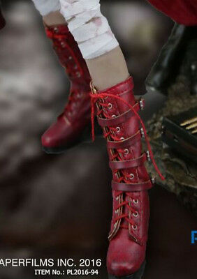 Phicen Van Helsing Leather shoes Boots For 1:6th TBLeagure Female Figure Doll