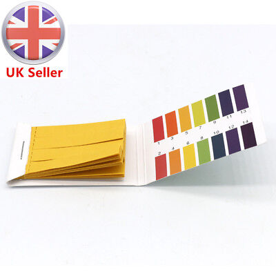 1-14 pH Indicator 80 Universal Full Range Litmus Test Paper Strips Tester Kit UK