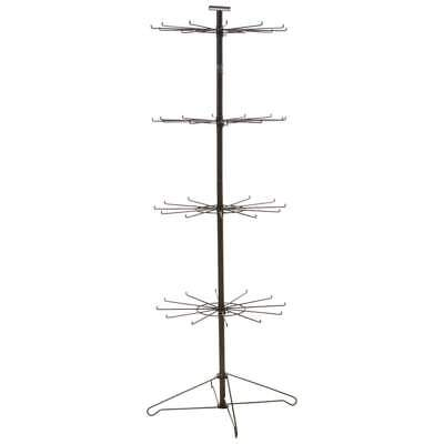 "Multi-Level 48 Hooks 67"" Retail Rack Stand Spinning Rotating Display"
