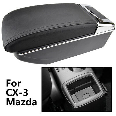 For Mazda CX-3 2015-2018 Storage Box Arm Rest Console Leather Centre Armrest Car