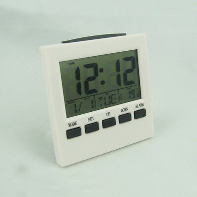 Digital Alarm Clock with Date Temperature Display Snooze Alarm BACKLIGHT