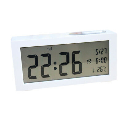 Digital Backlight LCD Display Table Alarm Clock Snooze Calendar Thermometer