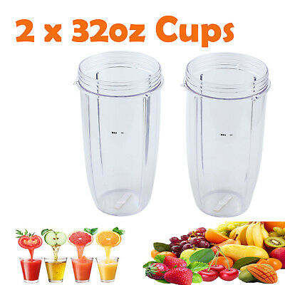 2pcs 32OZ Nutribullet Tall Cup Colossal Fits Nutri Bullet Extractor 600 900