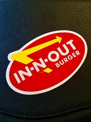 In-N-Out Burger, Bumper Sticker (Vintage/discontinued). Free Shipping!!!