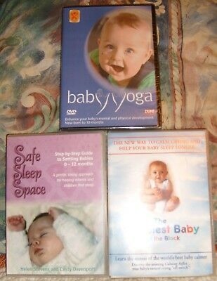 baby dvds ~ baby yoga ~ the happiest baby on the block ~ safe sleep space, DVD'S