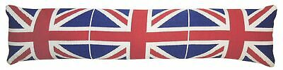 EHC Vintage Union Jack Cushioned Home Door Draught Excluder 90cm - Red Blue