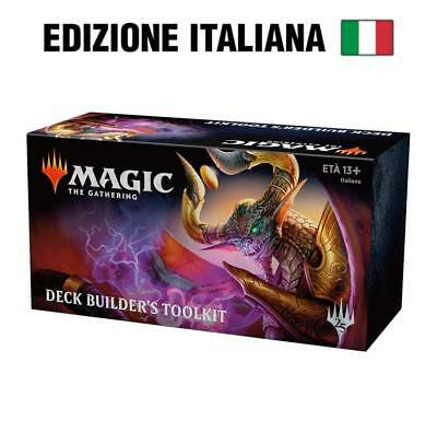 MAGIC WOTC The Gathering 2019 in ITALIANO Set Base Deck Builder's Toolkit Nuovo