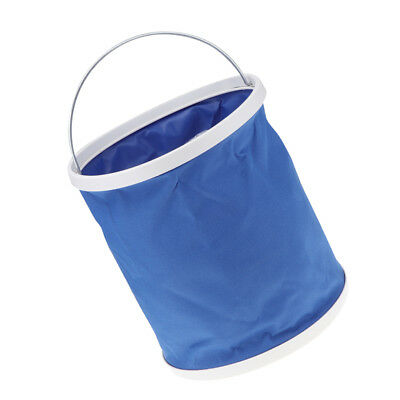 11L Outdoor Folding Bucket Collapsible Water Pail Car Washing Holder