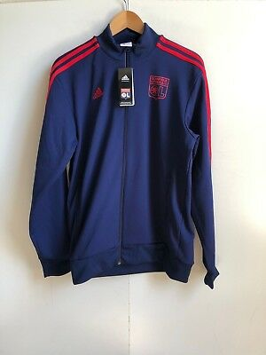 adidas Olympique Lyonnais FC Football Men's Track Jacket - Medium - Navy - New