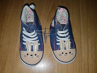 Mothercare Baby Girls bunny pram shoes infant size 3 (EUR 19) NEW