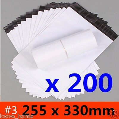 200x 255x330mm Plastic Satchel Courier Poly Mailer Self Sealing Mailing Post Bag