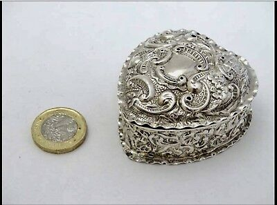 Mappin & Webb antique solid silver box