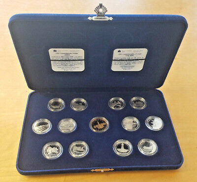 1992 Canadian Silver Quarter and Dollar Set - 13 Coin set in original package