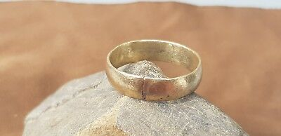 Superb Viking hoard item bronze band finger ring. Please read description. L18t