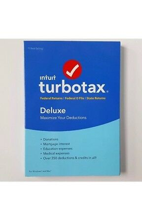 LOT OF 10 - Intuit TurboTax Deluxe 2016 Federal State E-File PC/MAC NIB SEALED