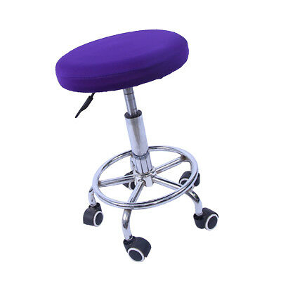 Elastic Bar Stool Covers Round Chair Seat Cover Cushion Slip Covers Purple