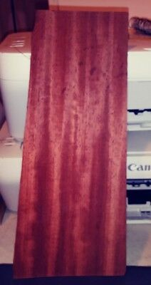 """1 piece of Bloodwood raw wood veneer 11 3/4"""" x 4""""  red & 1/42"""" thickness"""