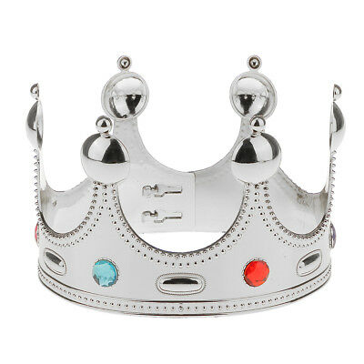 Novelty Plastic Jewels Imperial King Queen Crown Royal Fancy Dress Hat Gift