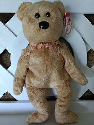 TY Beanie Baby ~ CASHEW Bear ~ NEW with Tags Retired with PE Pellets