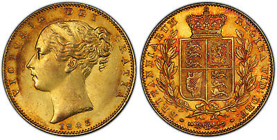 GR. BRIT. Victoria 1843 AV Sovereign PCGS MS63 KM 7361; SCBC-3852