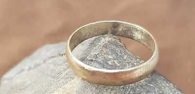 Superb Viking hoard item bronze band finger ring. Please read description. L75x