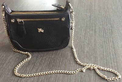 AUTHENTIC BURBERRY BLACK London Grainy Leather Small Crossbody Bag ... 8d6e62011e6e7