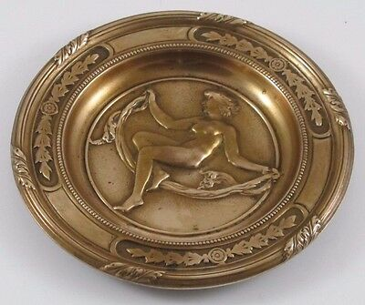Nude Lady Dancer Brass/Bronze Dish or Tray  JZ-0668
