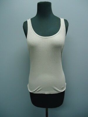 9bf336a46d7748 BCBGMAXAZRIA Gray Sleeveless Scoop Neck Solid Casual Tank Top Sz S FF0551