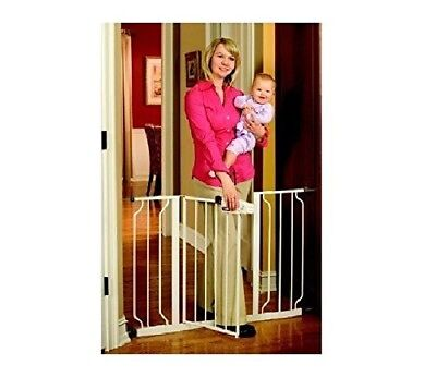 OPENED BOX Regalo Easy Step Extra Wide Walk Thru Gate 29-44 Inches Wide White