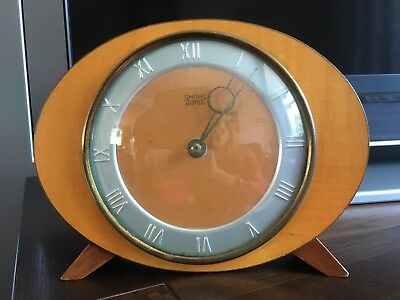 Smiths Vintage 4 Jewels Eight Day Mechanical Clock - Working