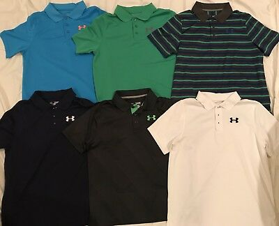 8c20ecd5e LOT OF 6 Under Armour Youth Heatgear Collared Shirts ~ Size: YXL GREAT  CONDITION - $69.99 | PicClick